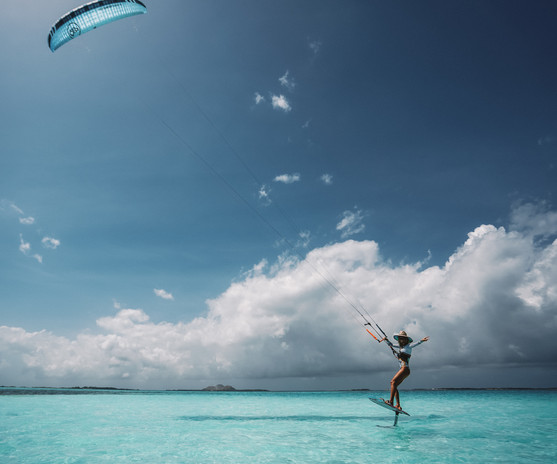 Hydrofoiling in Los Roques