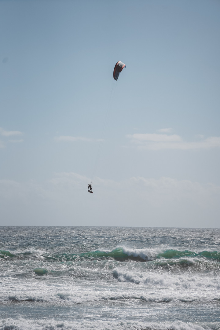 Kitesurfing big air capetown