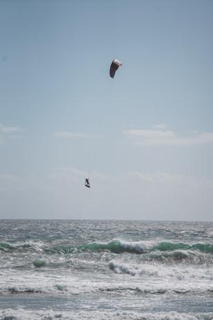 Kitesurfing big air capetown