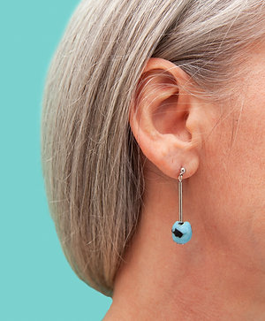 Contemporary, minimal glass bead earring