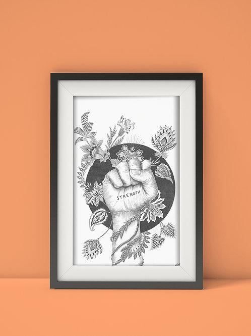 Strength wall art print