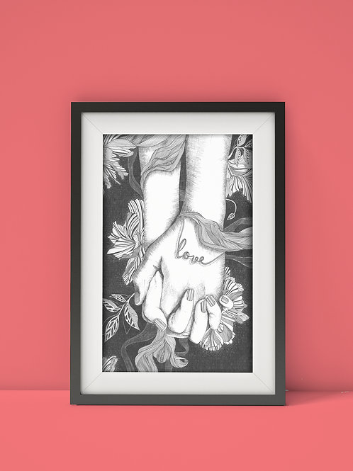 Love wall art print