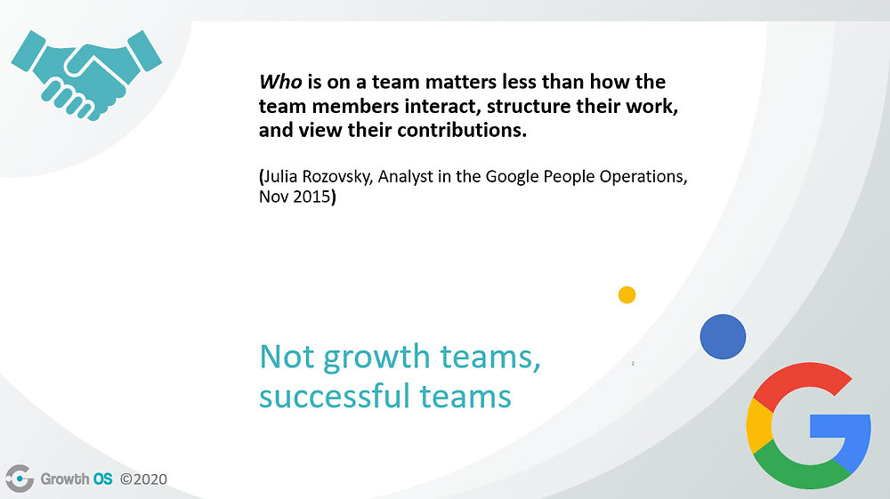 What makes a sucessful growth team?