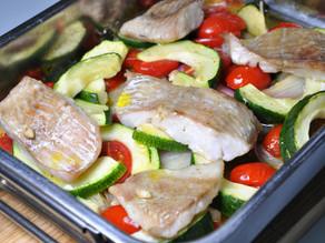 TRESKA TMAVÁ pečená se zeleninou
