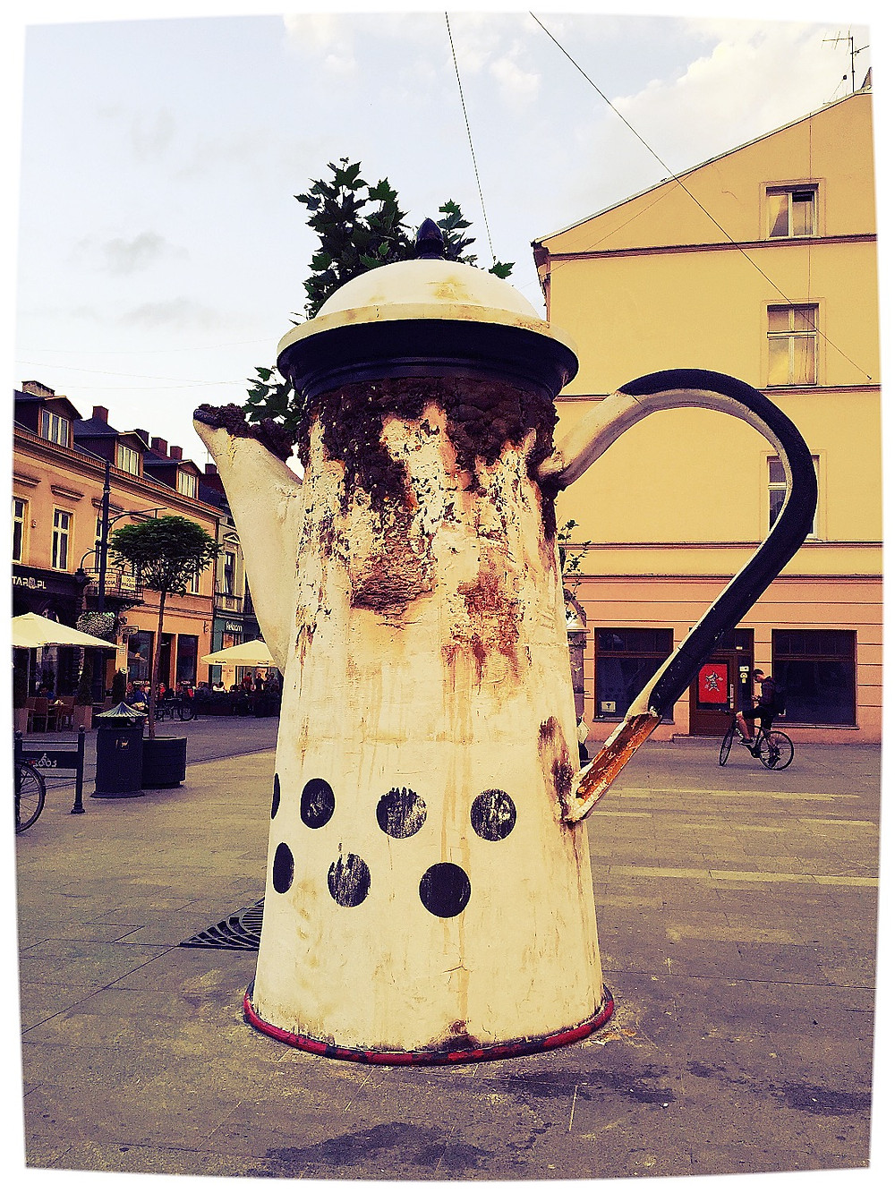 Polish Street Art - Coffee Pot Sculpture