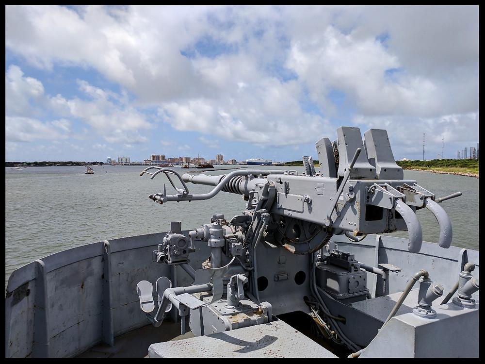USS Stewart at The American Undersea Warfare Center, Galveston, Texas.