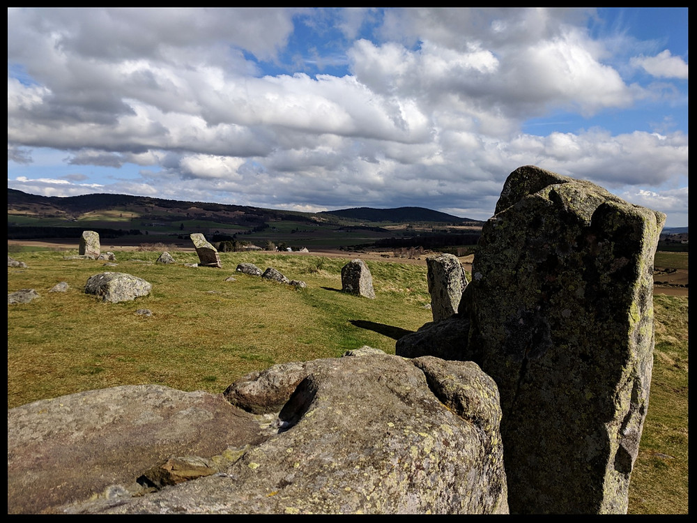Tomnaverie Stone Circle, Aberdeenshire, Scotland.