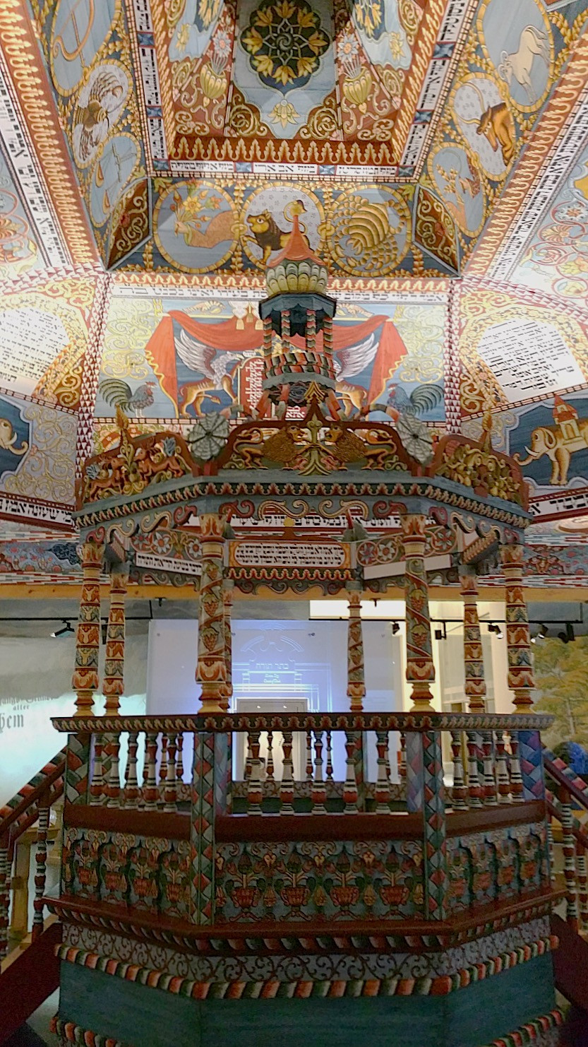 A reconstructed synagogue ceiling