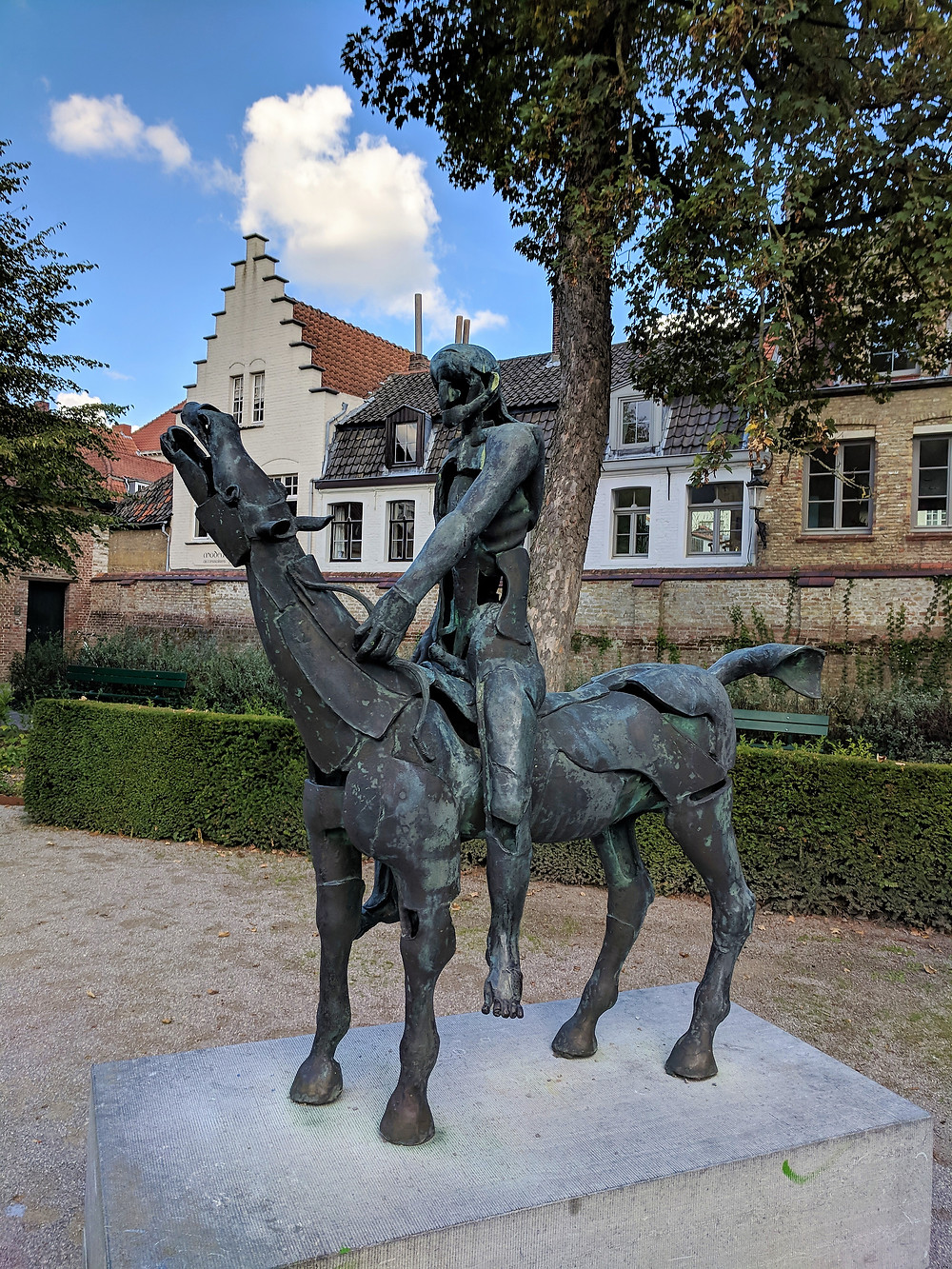 One of the Four Horsemen, Arendts Garden, Bruges