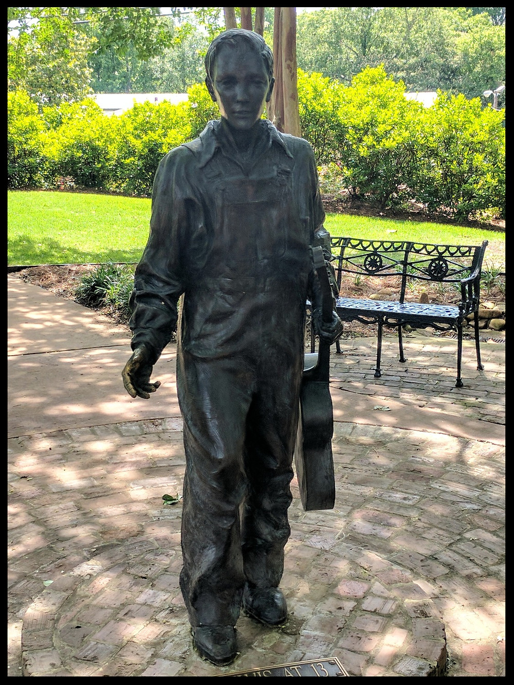 """""""Elvis at 13"""" statue, The Elvis Presley Birthplace Museum, Tupelo, Mississippi."""