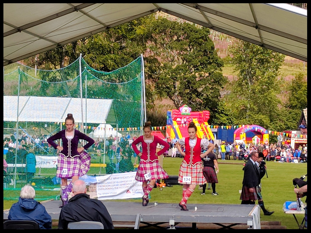 Highland dancing at The Lonach Gathering