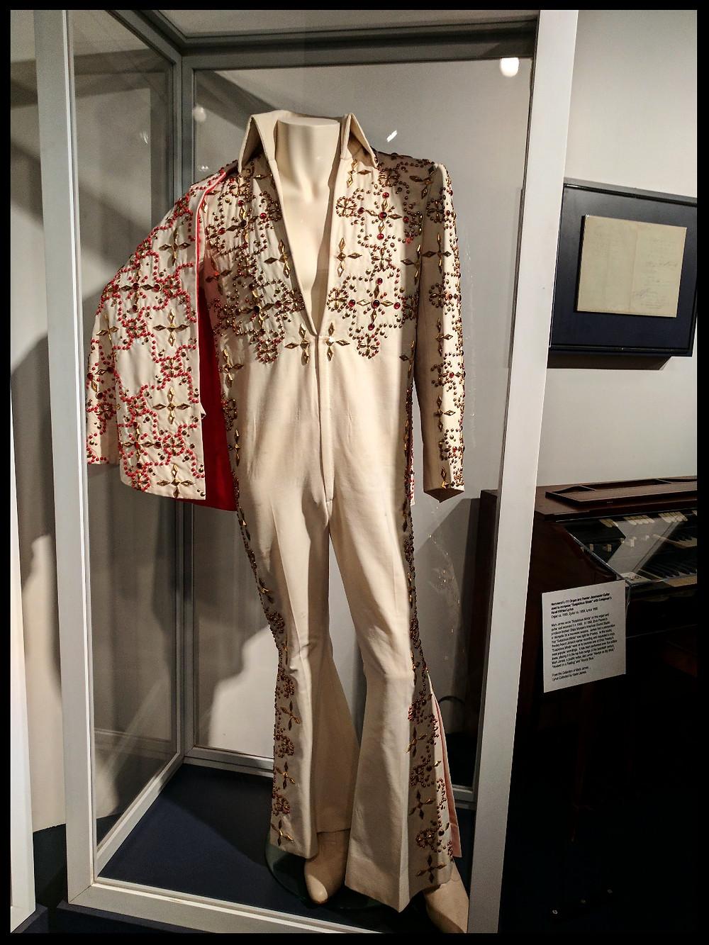 Elvis jumpsuit at theMemphis Rock 'n' Soul Museum