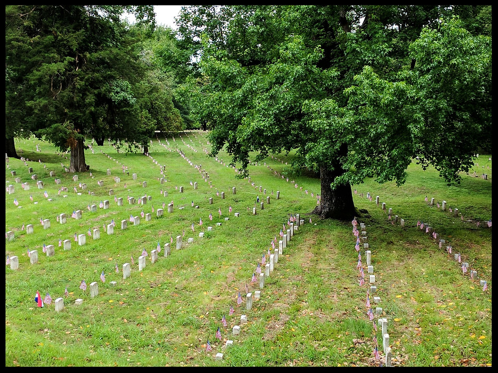 The Vicksburg National Cemetery, Vicksburg, Mississippi.