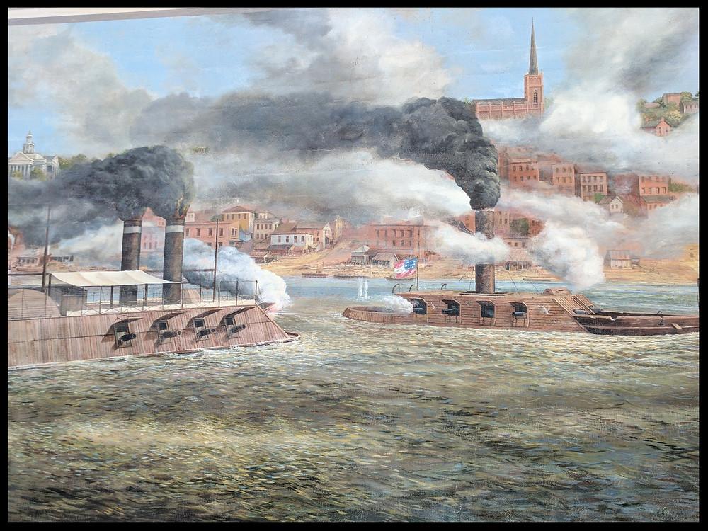 Union gunboats, Vicksburg, Mississippi.