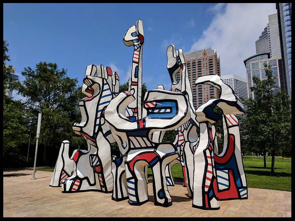 Monument au Fantóme by Jean Dubuffet at Discovery Green, Houston