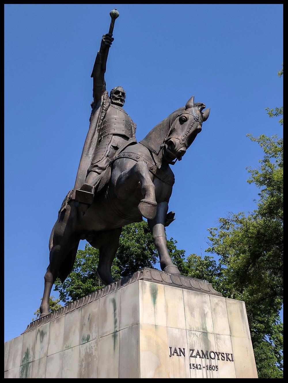 Monument to Jan Zamoyski, founder of Zamość.