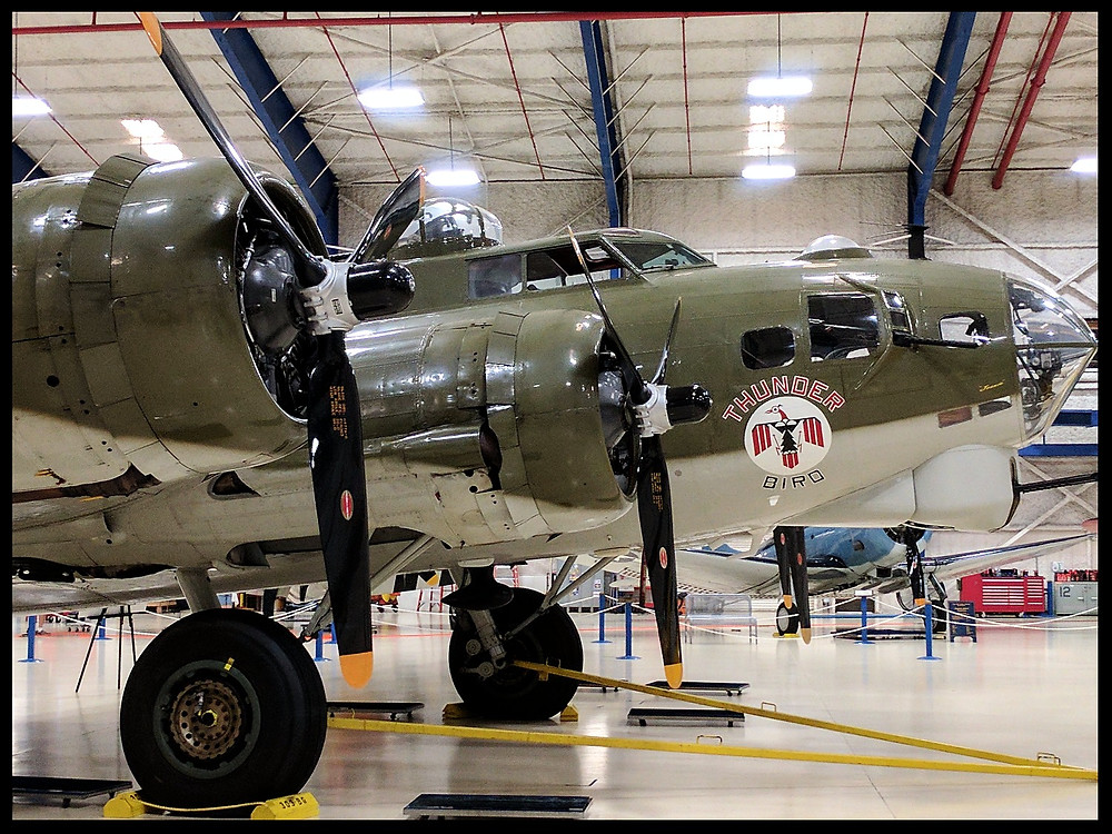 Boeing B-17 Flying Fortress at The Lone Star Flight Museum, Galveston, Texas.