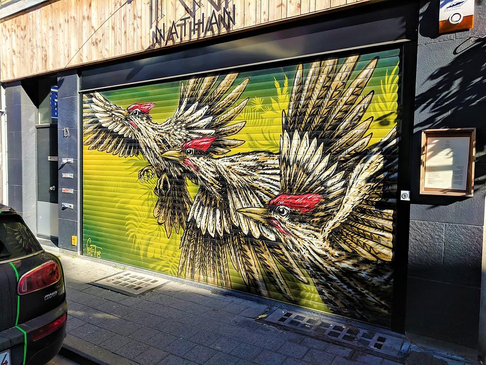 Gun T's birds in flight, Antwerp