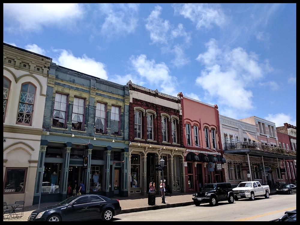 The Strand Historic District, Galveston, Texas.