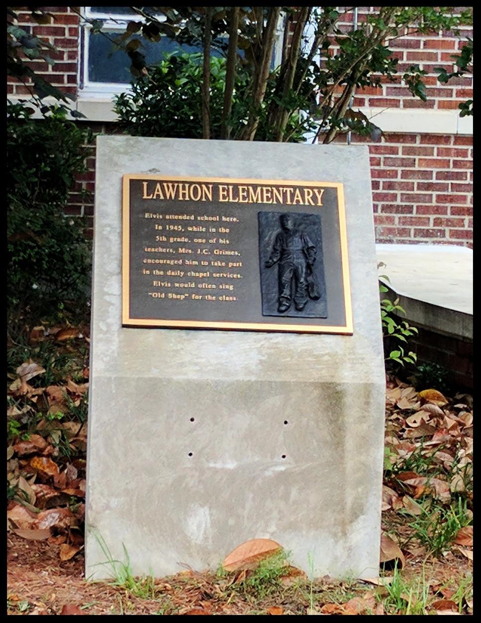 Elvis' first school, Lawhon Elementary School, Tupelo, Mississippi.
