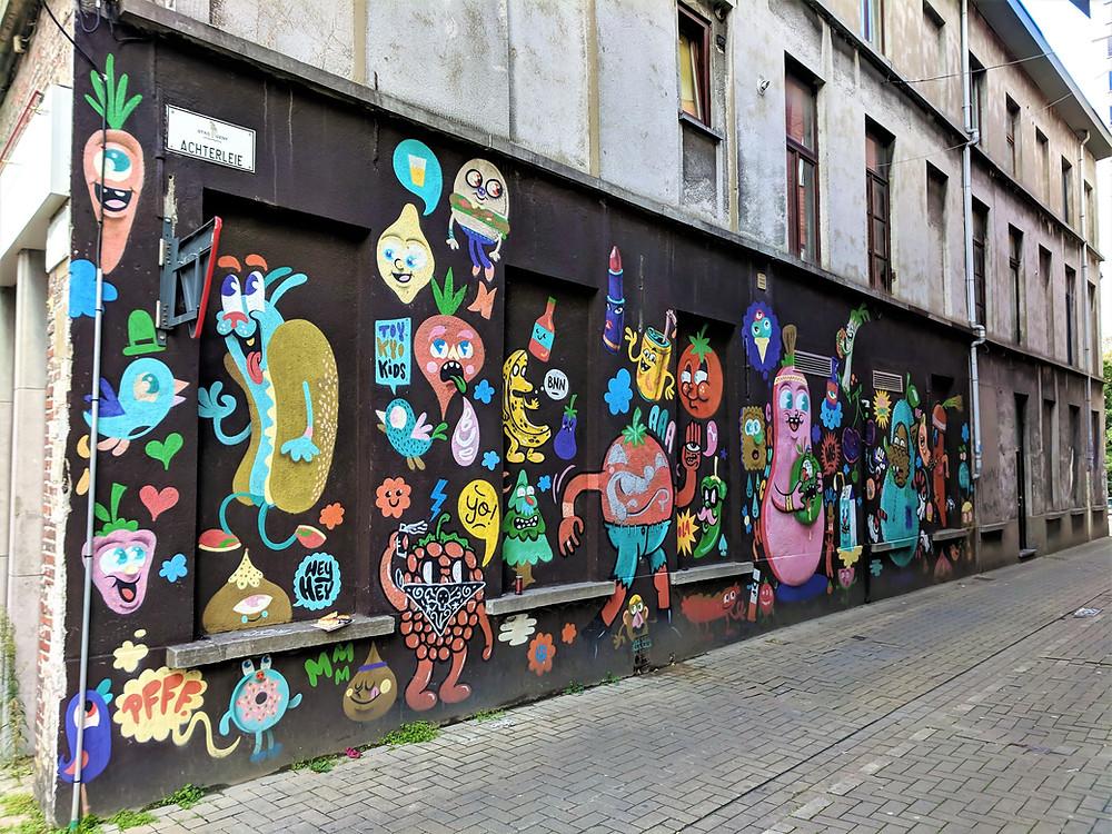 'De musketiers' mural, Ghent.