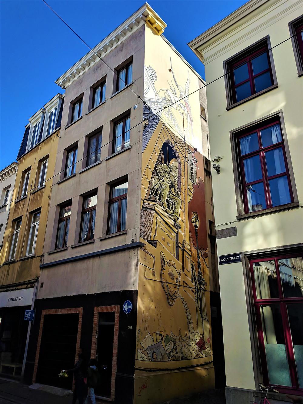 Hendrik Conscience mural, Antwerp