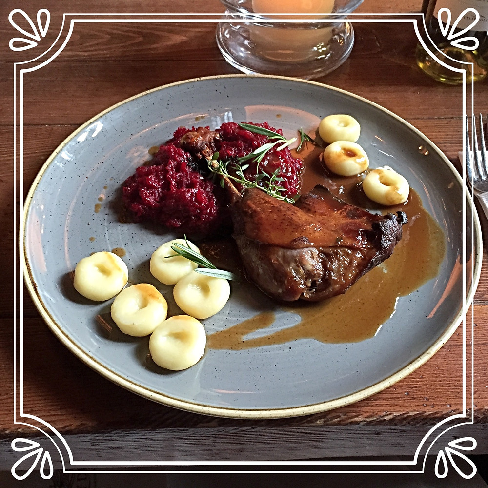 Oven Roasted Duck at Restauracja Stary Dom in Warsaw, Poland