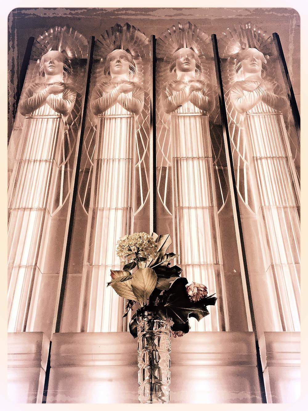 St. Matthew's Glass Church Angels