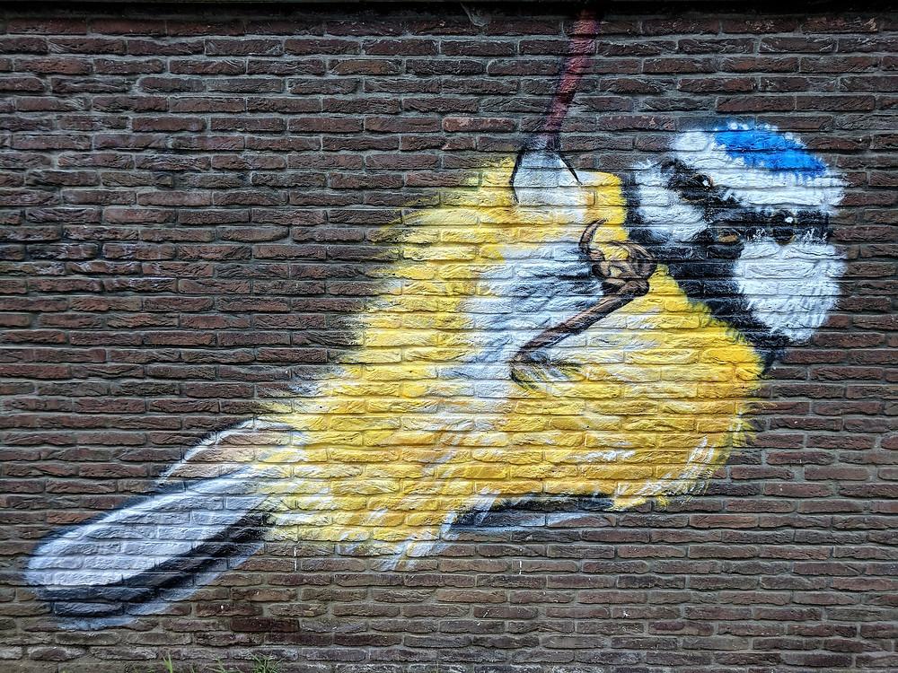 'Geluksvogels', by Venom, Ghent.