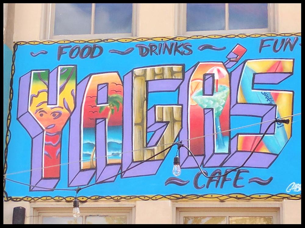 Yaga's Cafe, The Strand Historic District, Galveston, Texas.