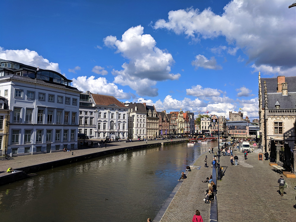 View from St. Michael's Bridge, Ghent.