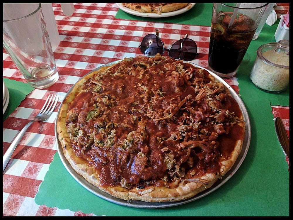 Coletta's barbecue pizza