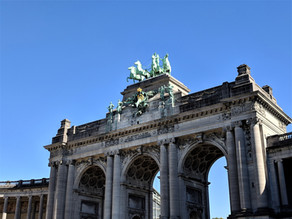 A day out in the Parc du Cinquantenaire, Brussels.