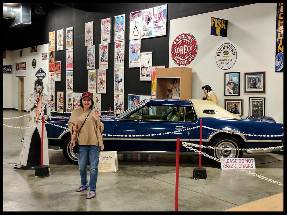 Elvis Presley's 1976 Lincoln Mark IV, Tupelo Automobile Museum, Tupelo, Mississippi.