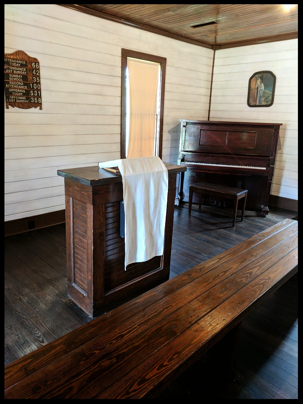 The Assembly of God Church, The Elvis Presley Birthplace Museum, Tupelo, Mississippi.