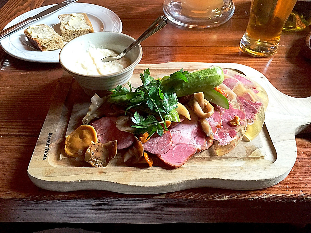 Platter of Polish Charcuterie at Restauracja Stary Dom in Warsaw, Poland