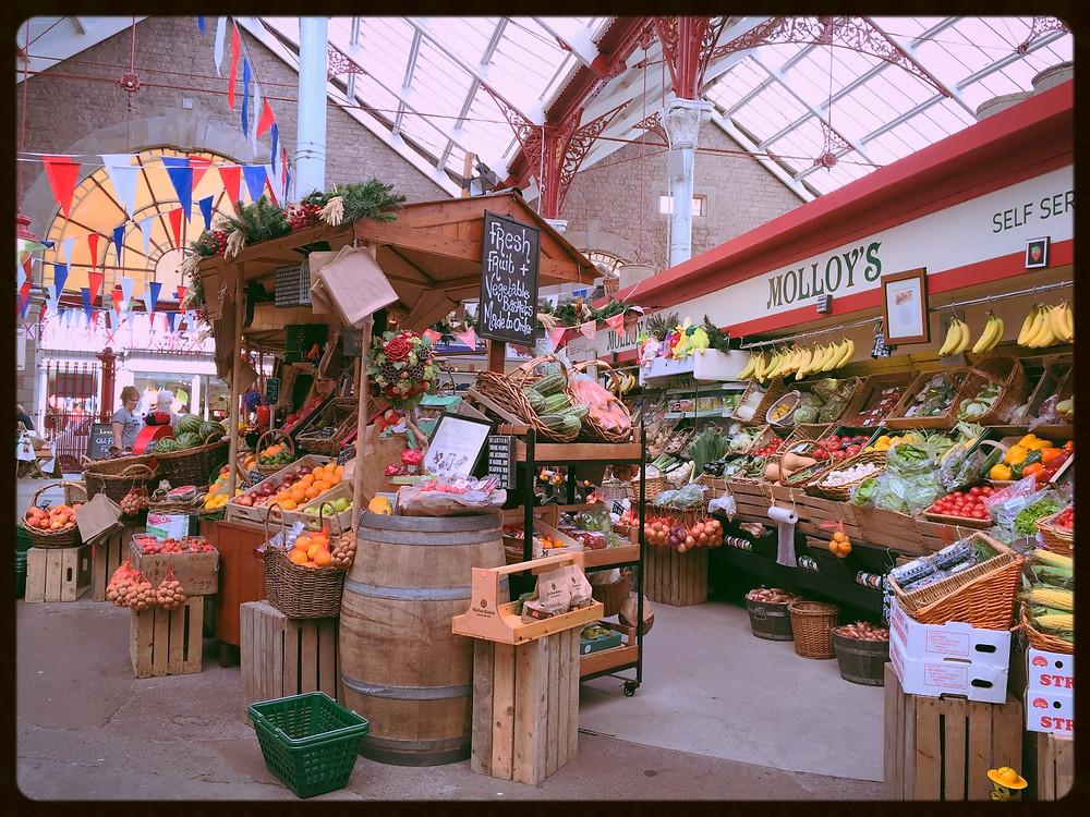 St. Helier's Central Market Fruit & Vegetable Stall