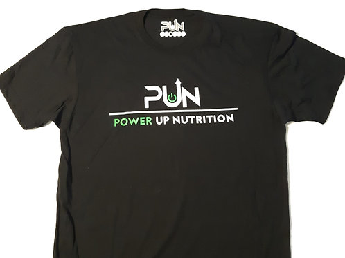Mens Black T Shirt PUN Logo