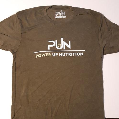 Mens Military Green PUN T-Shirt