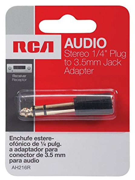 "RCA Stereo 1/4"" Plug to 3.5mm Jack Adapter"