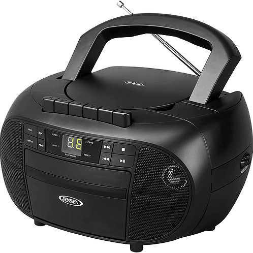 Jensen Portable Stereo CD Player with Cassette