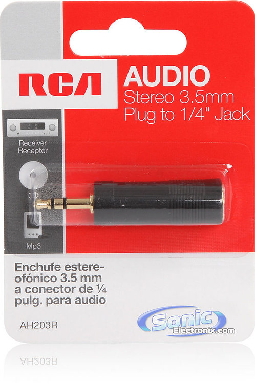 """RCA Stereo 3.5mm Plug to 1/4"""" Jack Adapter"""