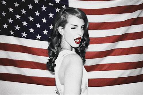 "Lana Del Rey "" Flag"" (poster)"