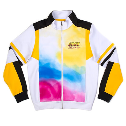 DS9110 WATERCOLOR PAINTING EFFECT JERSEY TRACK JACKET
