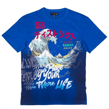 DS9001 JAPANESE THEME GRAPHIC CREWNECK TEE