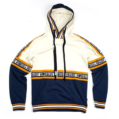 DF8006 GRAPHIC RIB FLEECE HOODY