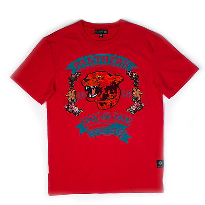 DS9012 PANTHER PATCH FRONT TEE SHIRT