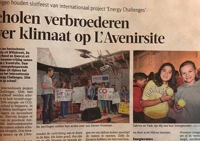 Afsluiter van de energy challenge. #klim