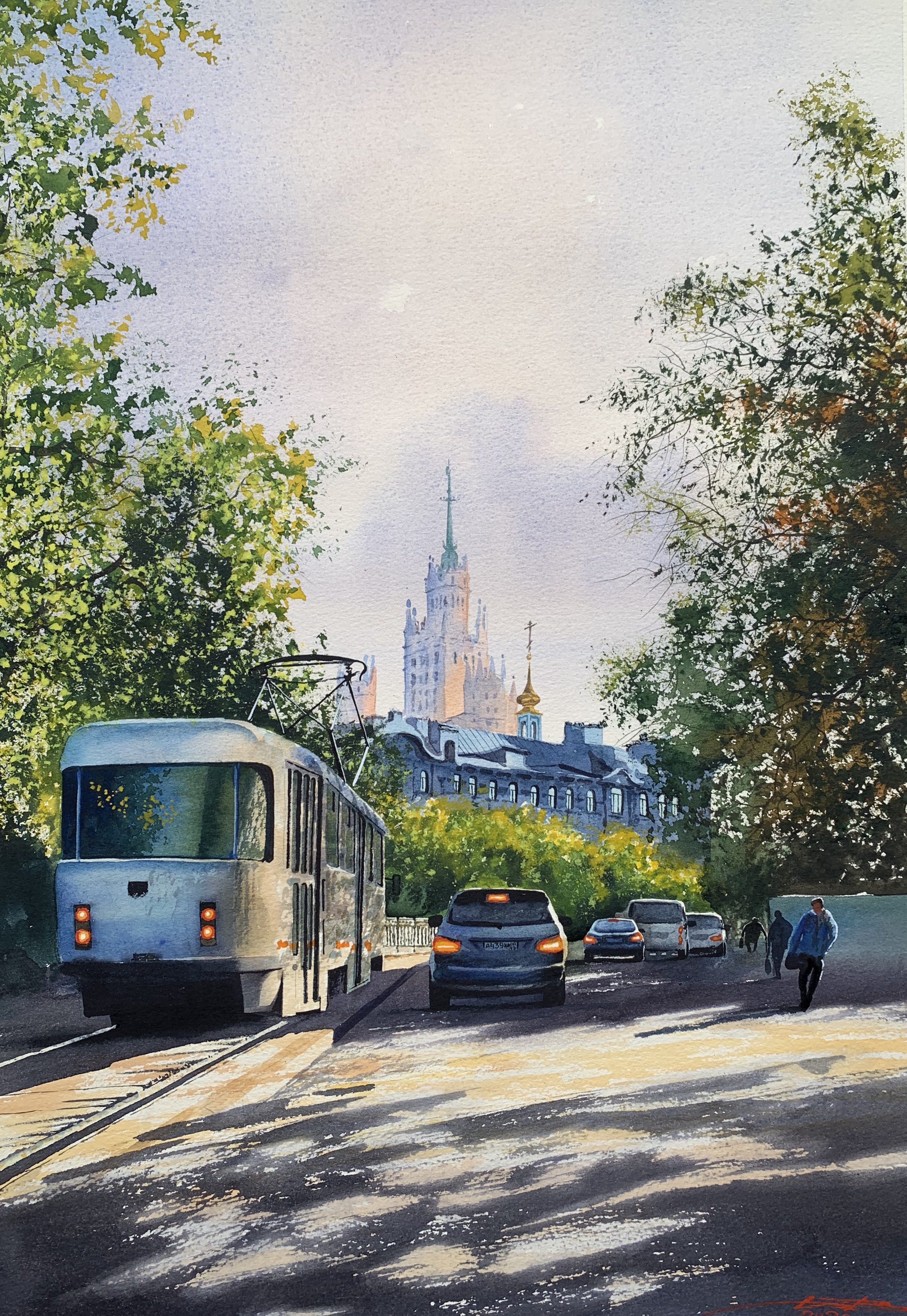 Moscow tram 38x56 cm 290$