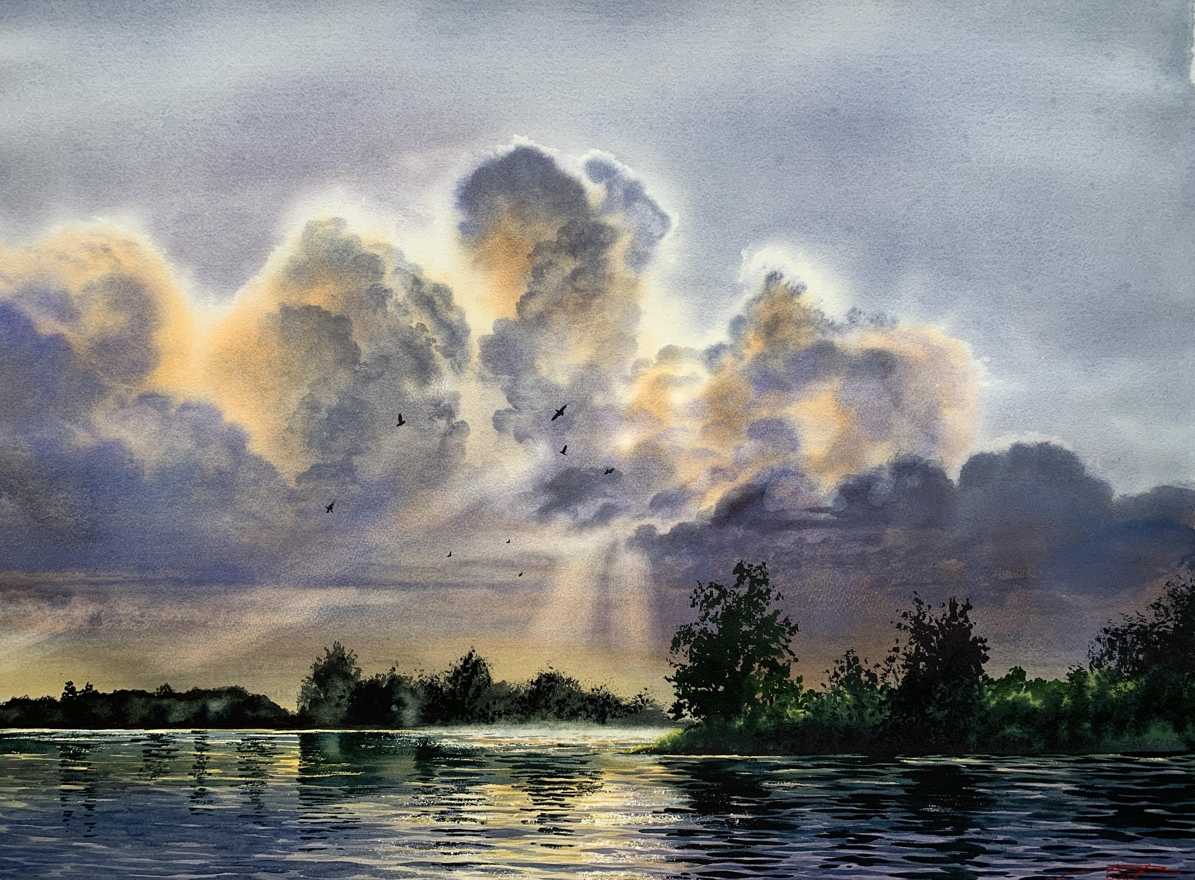 Clouds 56x76 cm
